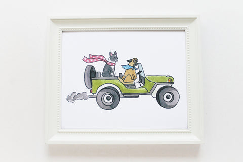 Jeep Dogs Print