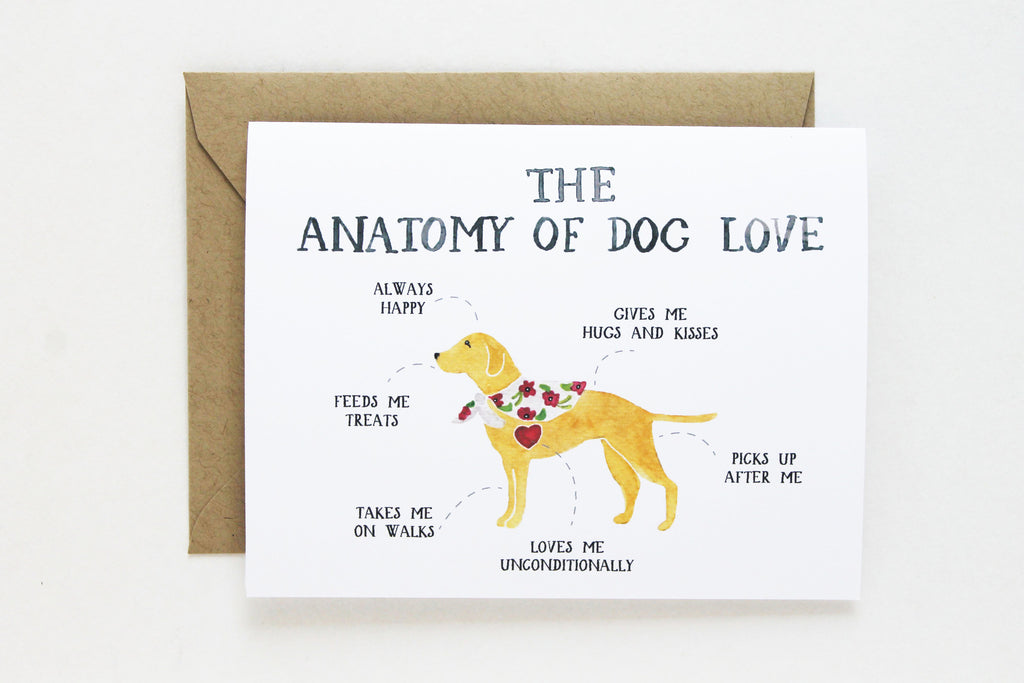 Anatomy of Dog Love Card