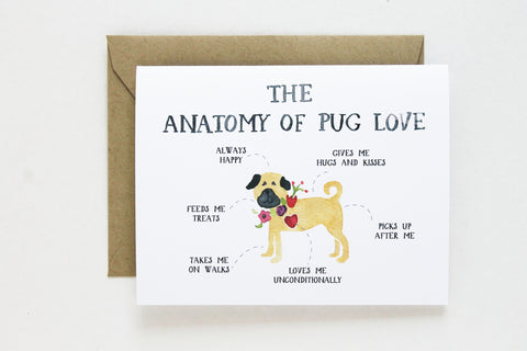 Anatomy of Pug Love Card