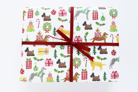 Holiday Dogs Wrapping Sheets