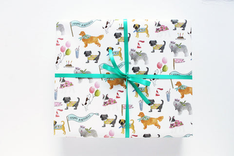 Birthday Dogs Wrapping Sheets