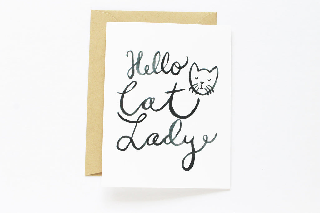Hello Cat Lady Card