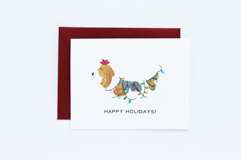 Basset Hound Decorates Card