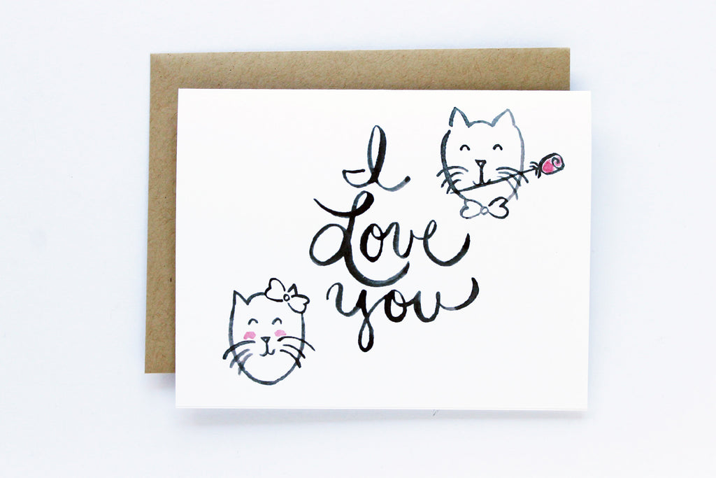 I Love You Cats Card