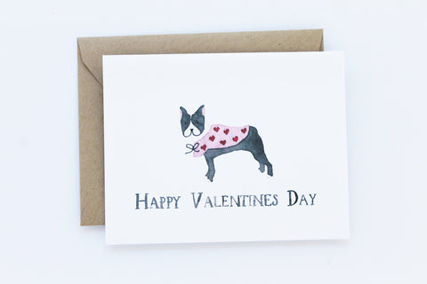 Frenchie Valentine Card