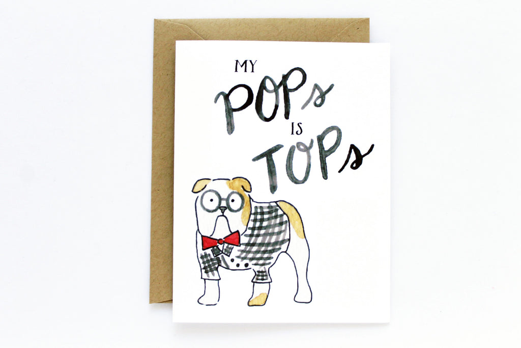 Pops Is Tops Father's Day Card