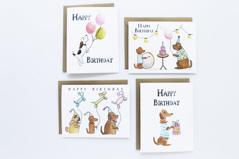 Assorted Birthday Dogs Set