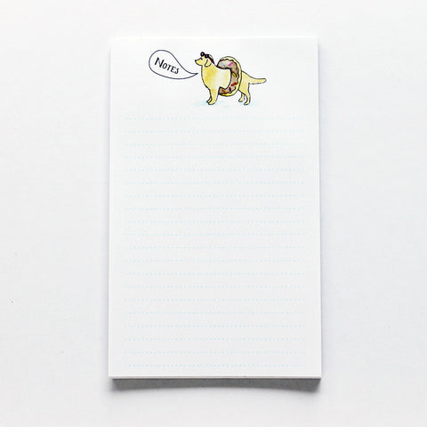 Donut Dog Notepad