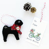 Pug Ornament - black pug