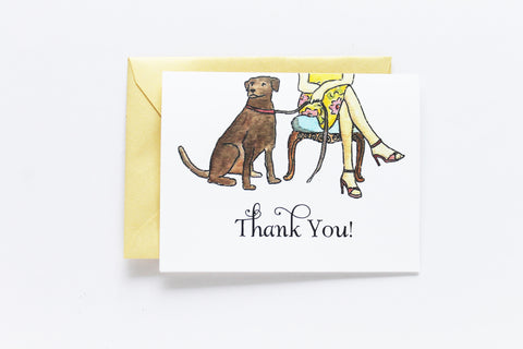 Chocolate Lab Thank You Card