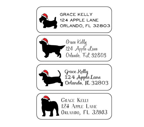 Christmas Dogs Address Labels