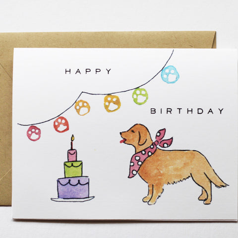 Assorted Golden Retriever Birthday Set