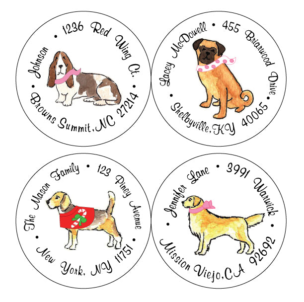 Personalized Dress Your Pooch Address Labels