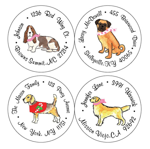 Personalized Round Address Labels Re-order