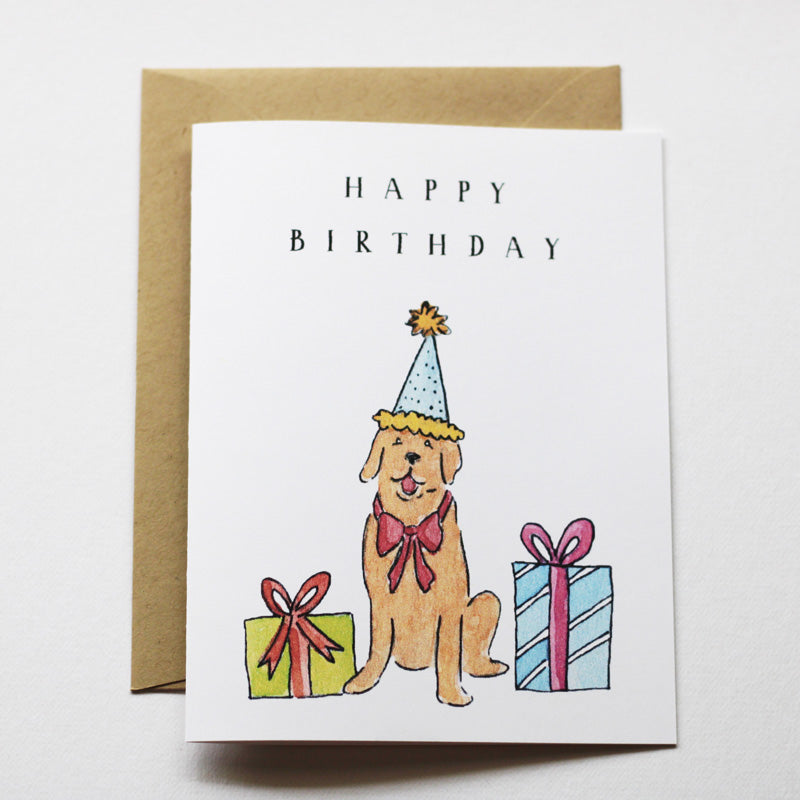 Birthday Card - Golden Retriever Birthday