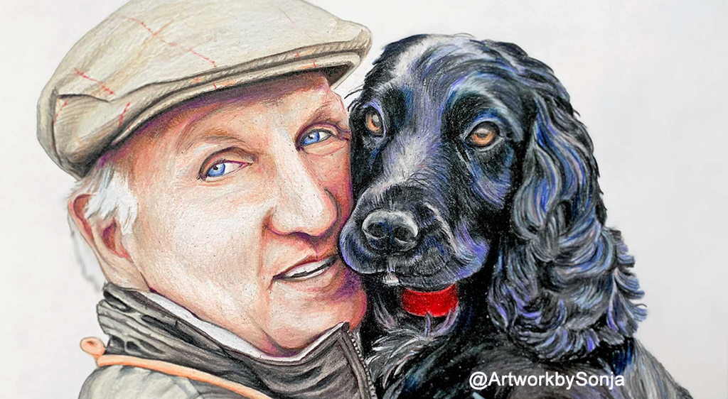 Custom Portrait of Pet and Owner