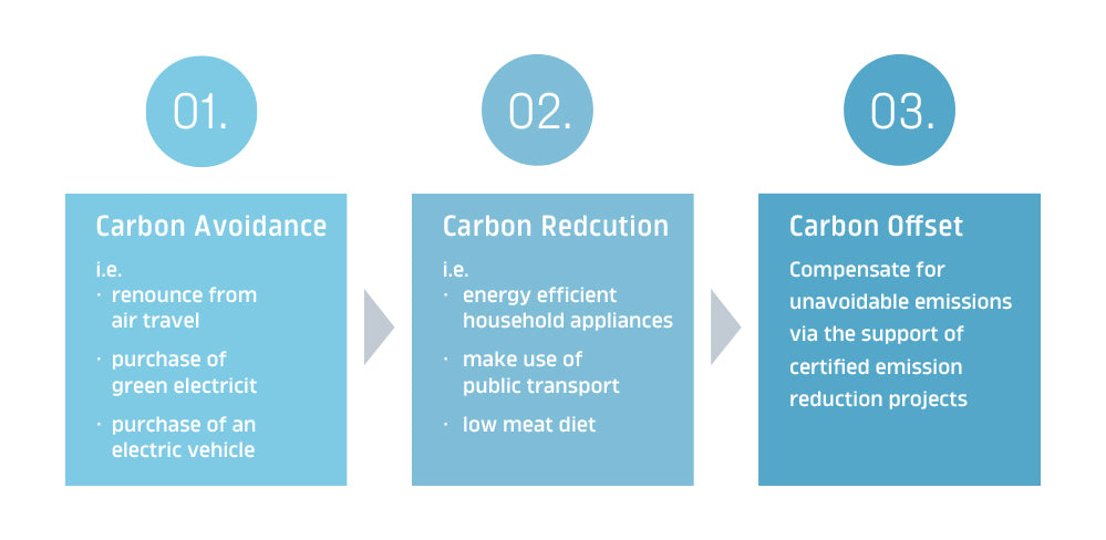 Carbon avoidance and carbon reduction and then offsetting.