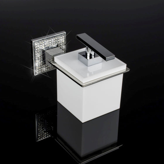 DIAMOND SWAROVSKI WALL SOAP LOTION GEL SANITIZER DISPENSER