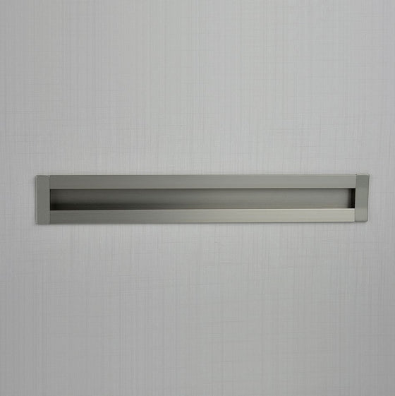 "SMART RECESSED PULL Centers 6 1-4"" Stainless Steel"