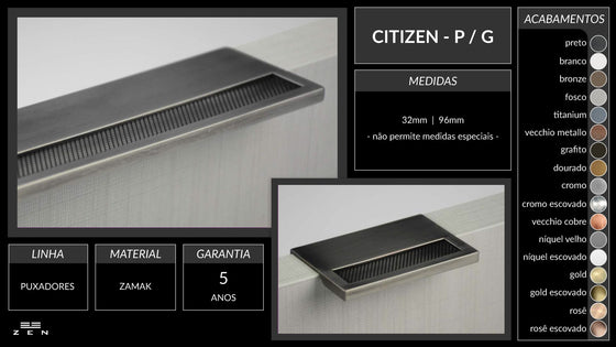 "CITIZEN PULL 2 1-2"" Chrome"