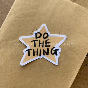 do the thing sticker flake