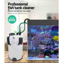Load image into Gallery viewer, Aquarium External Canister Filter Aqua Fish Tank UV Light with Media Kit 2400L/H