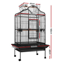 Load image into Gallery viewer, i.Pet Bird Cage Pet Cages Aviary 168CM Large Travel Stand Budgie Parrot Toys