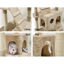 Load image into Gallery viewer, i.Pet Cat Tree 180cm Trees Scratching Post Scratcher Tower Condo House Furniture Wood Beige