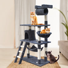 Load image into Gallery viewer, i.Pet Cat Tree 141cm Trees Scratching Post Scratcher Tower Condo House Furniture Wood