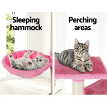 Load image into Gallery viewer, i.Pet Cat Tree 203cm Trees Scratching Post Scratcher Tower Condo House Furniture Wood Pink