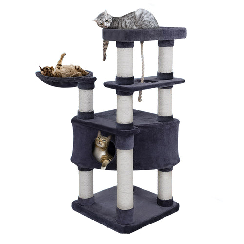 i.Pet Premium Cat Tree 137cm Trees Scratching Post Scratcher Tower Condo House Furniture