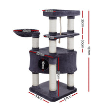 Load image into Gallery viewer, i.Pet Premium Cat Tree 137cm Trees Scratching Post Scratcher Tower Condo House Furniture