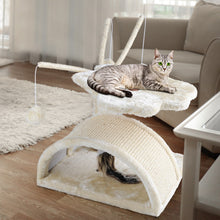 Load image into Gallery viewer, i.Pet Cat Tree 45cm Trees Scratching Post Scratcher Tower Condo House Furniture Wood Beige