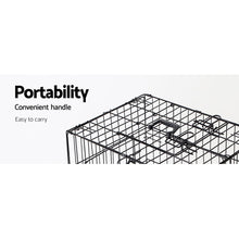 Load image into Gallery viewer, i.Pet 42inch Pet Cage - Black