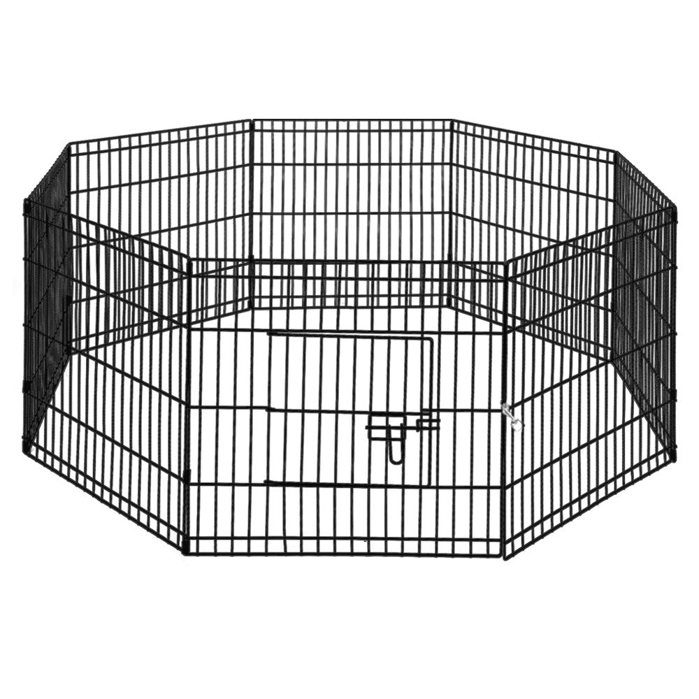 i.Pet 24 8 Panel Pet Dog Playpen Puppy Exercise Cage Enclosure Play Pen Fence