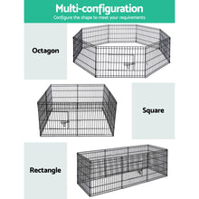 Load image into Gallery viewer, i.Pet 24 8 Panel Pet Dog Playpen Puppy Exercise Cage Enclosure Play Pen Fence""