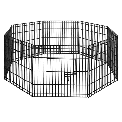 i.Pet 2X24 8 Panel Pet Dog Playpen Puppy Exercise Cage Enclosure Fence Play Pen