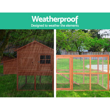 Load image into Gallery viewer, i.Pet Chicken Coop Coops Wooden Rabbit Hutch Hen Chook House Ferret Large Run XL