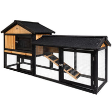 Load image into Gallery viewer, i.Pet Rabbit Hutch Hutches Large Metal Run Wooden Cage Waterproof Outdoor Pet House Chicken Coop Guinea Pig Ferret Chinchilla Hamster 165cm x 52cm x 86cm
