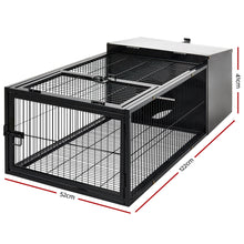 Load image into Gallery viewer, i.Pet Rabbit Cage Hutch Cages Indoor Outdoor Hamster Enclosure Pet Metal Carrier 122CM Length