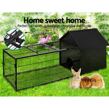 Load image into Gallery viewer, i.Pet Rabbit Cage Hutch Cages Indoor Outdoor Hamster Enclosure Pet Metal Carrier 162CM Length