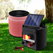 Load image into Gallery viewer, Giantz Electric Fence Energiser 5km Solar Power Charger Set + 2000m Tape