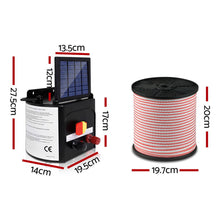 Load image into Gallery viewer, Giantz 3km Solar Electric Fence Energiser Charger with 400M Tape and 25pcs Insulators