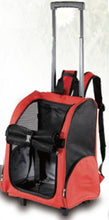 Load image into Gallery viewer, Dog Pet Safety Transport Carrier Backpack Trolley