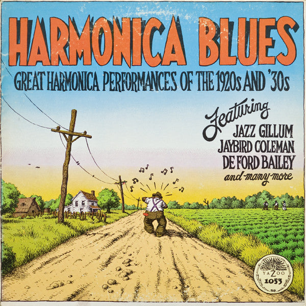 Various ‎– Harmonica Blues (Great Harmonica Performances Of The 1920s And '30s) (Vinyle usagé / Used LP)