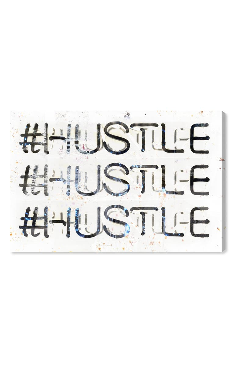 Hustle Canvas Wall Art