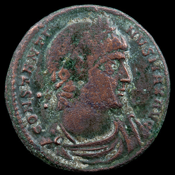 Constantine the Great (306-337 CE). Authentic Roman Bronze Coin.