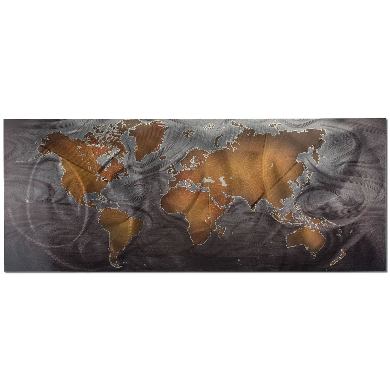 Bronze/Pewter Land & Sea - Large Indoor/Outdoor Modern Metal Wall Art