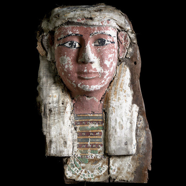 Egyptian Sarcophagus Mask Late Period (Price On Request)