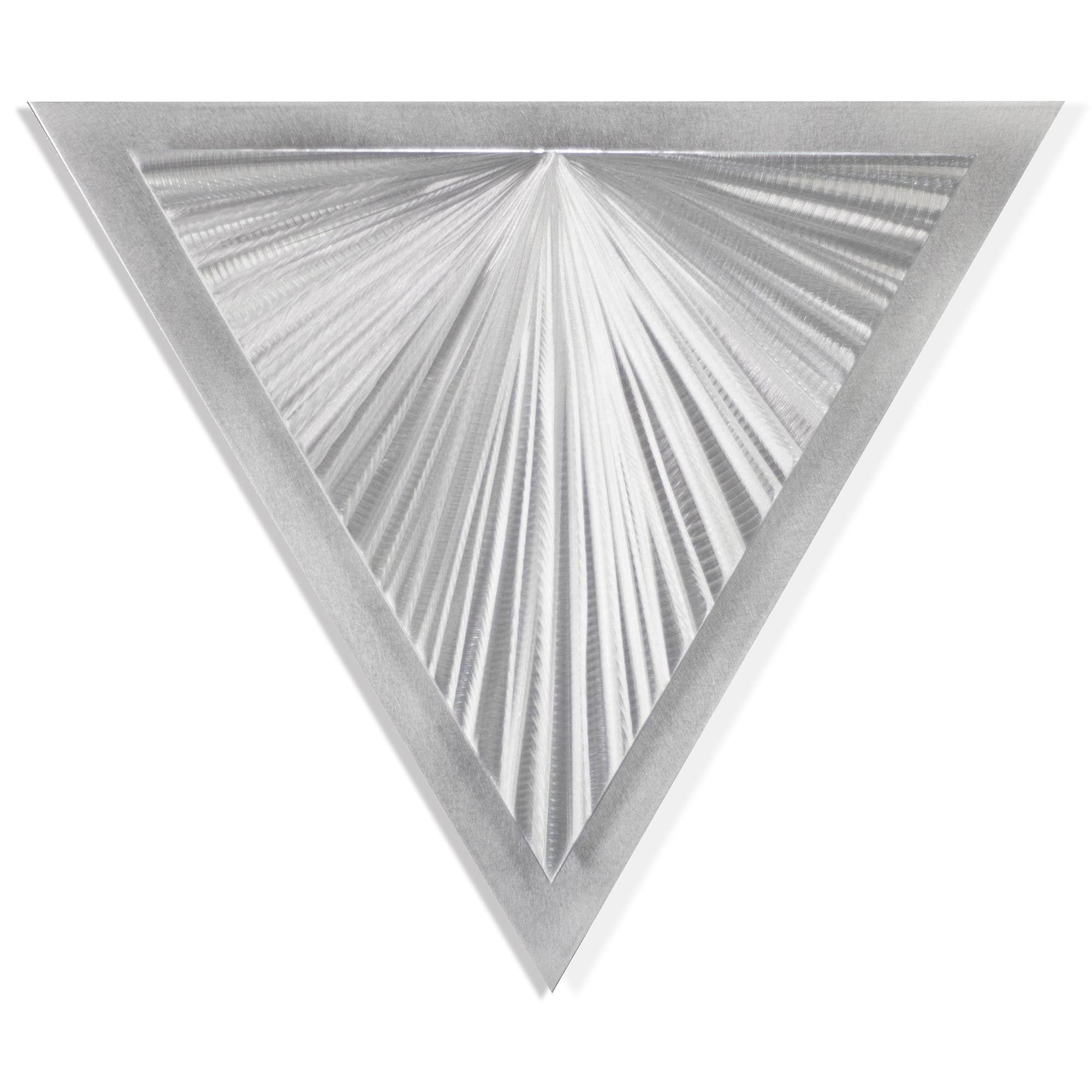 Shining Angle by Helena Martin - Modern Metal Art on Ground Metal